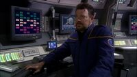 William T. Riker as ensign aboard Enterprise (NX-01)