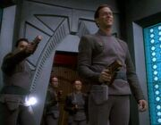 Bajoran officers holosuite
