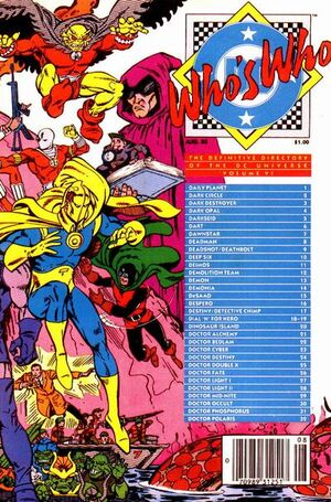 Cover for Who's Who: The Definitive Directory of the DC Universe #6
