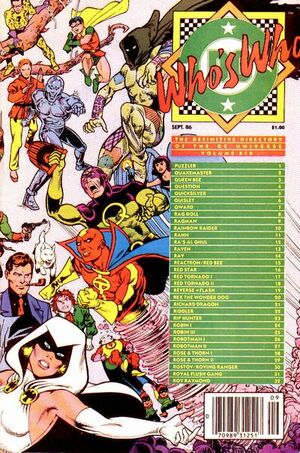 Cover for Who's Who: The Definitive Directory of the DC Universe #19
