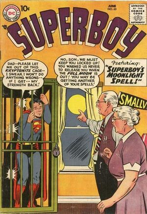 Cover for Superboy #65