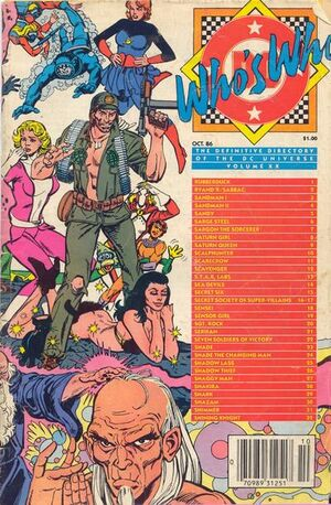 Cover for Who&#39;s Who: The Definitive Directory of the DC Universe #20