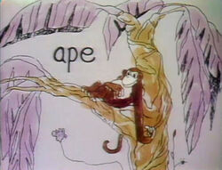 A for ape toon
