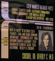 Dossier de Beverly Crusher