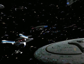 Dominion and Federation fleets meet
