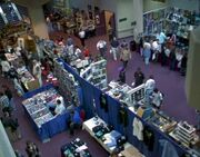 Typical Star Trek convention booths