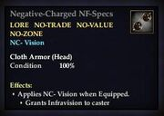 Negative-Charged NF-Specs