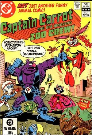 Cover for Captain Carrot and His Amazing Zoo Crew #2