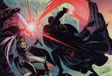 Darth Vader vs Dama Oscura