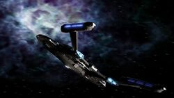 Enterprise (NX-01) heads for nebula