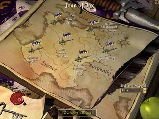 Joan of Arc Campaign Map