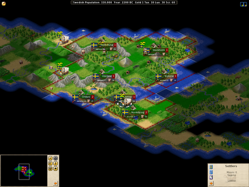 my pc games: Freeciv, a free strategy game similar to