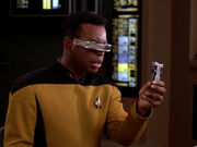 Left handed Geordi