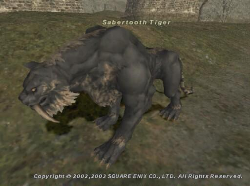 Facts of Sabertooth Tiger http://wiki.ffxiclopedia.org/wiki/Sabertooth_Tiger