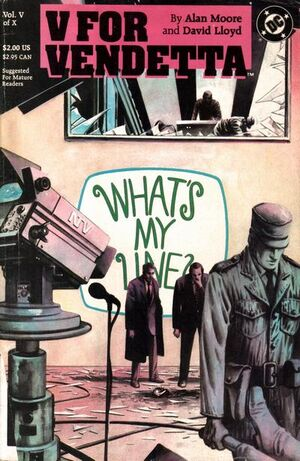 Cover for V for Vendetta #5