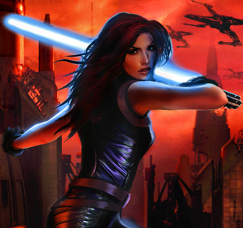 Mara Jade on the cover of Sacrifice