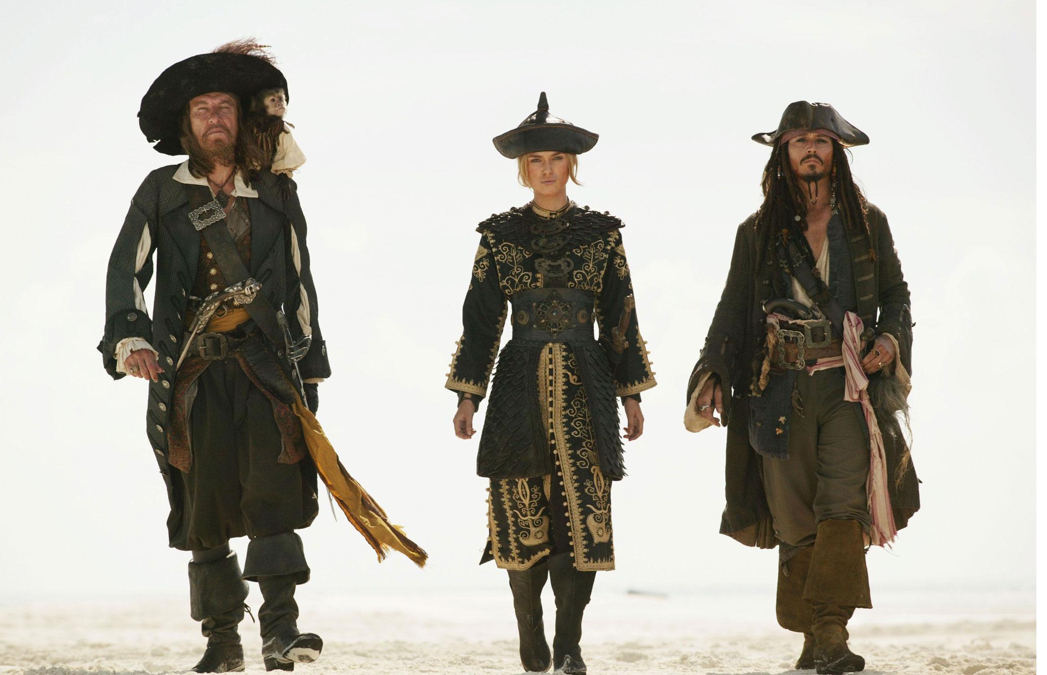 Jack Sparrow Hector Barbossa And Elizabeth Swann Jpg Jack