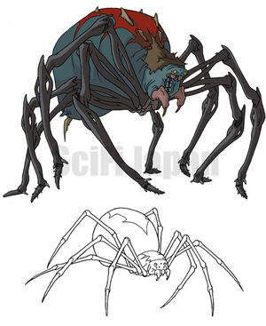 Giant Mutant Black Widow Spider and Hybrid Spider