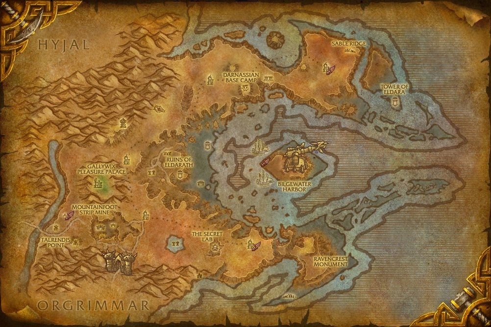 world of warcraft map with levels. WORLD OF WARCRAFT MAP LEVELS