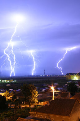 Lightning over Oradea Romania 2