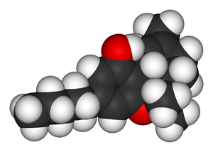 Tetrahydrocannabinol-3D-vdW