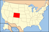 Map of USA CO