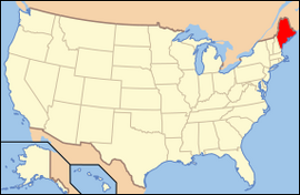 Map of USA ME