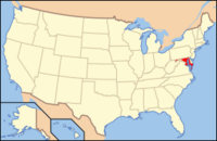 Map of USA MD