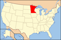Map of USA MN