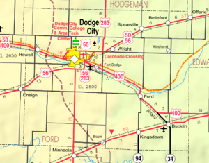 Map of Ford Co, Ks, USA
