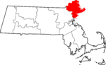 State map highlighting Essex County