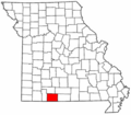 Map of Missouri highlighting Taney County.png
