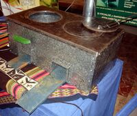 Metal Rocket Stove Granada 2006