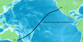 Planned Flight Path Oceanic 815 02