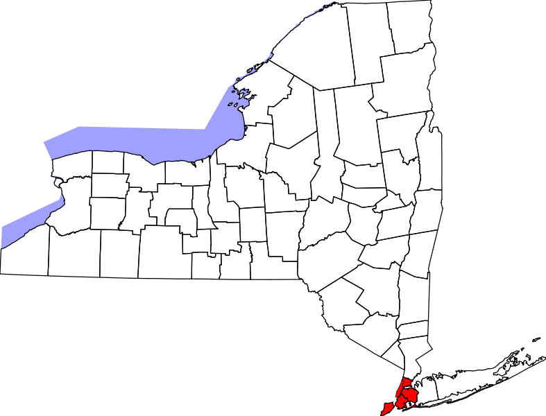 map of new york state and cities. Featured on:New York City