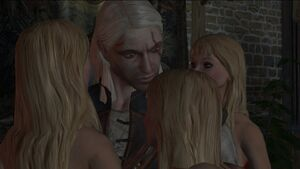 Scenes Geralt with vampiresses