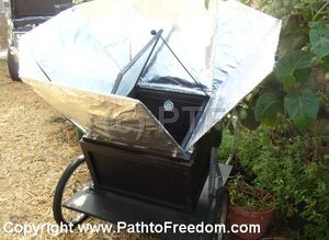 Path to Freedom solar oven on wheels 2008