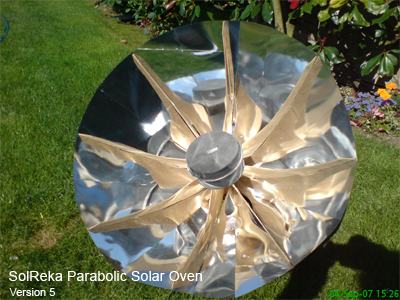 SolReka parabolic solar oven version5