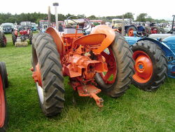 Case tractor rear