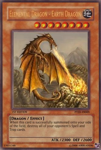 Elemental Dragon - Earth Dragon - Yu-Gi-Oh Card Maker Wiki ... Element Dragon Yugioh