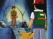 EP005 Ash frente a Brock