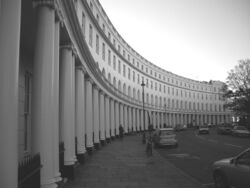 Park Crescent at London (B&amp;W)