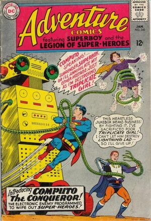 Cover for Adventure Comics #340