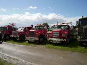 Mack truck lineup at Driffield-P8100501