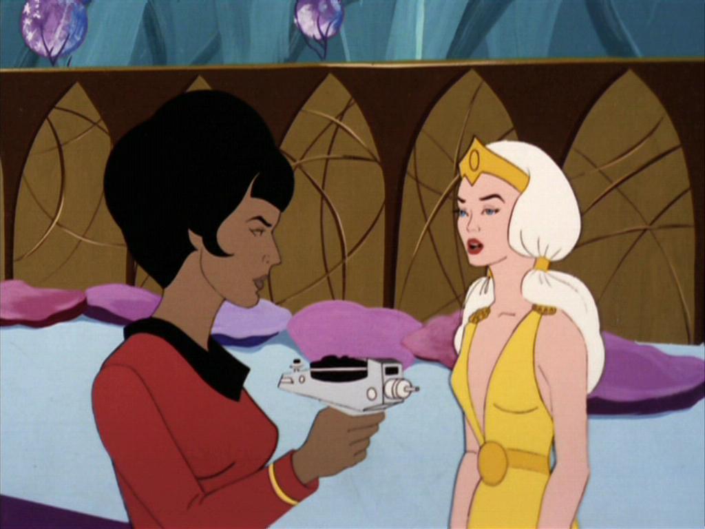 Uhura confronts Lorelie Leader