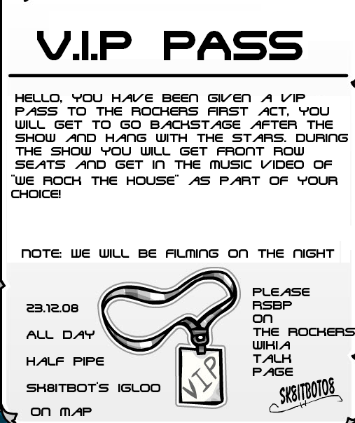 photograph about Free Printable Vip Pass Template called backstage p template -