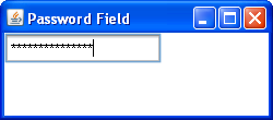 Swing password field