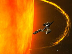 Enterprise Skims over Sol