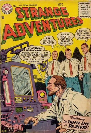 Cover for Strange Adventures #70
