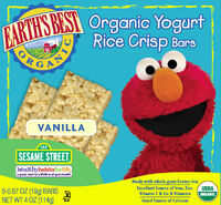 Yogurt Rice Crisp Cereal Bars - Vanilla